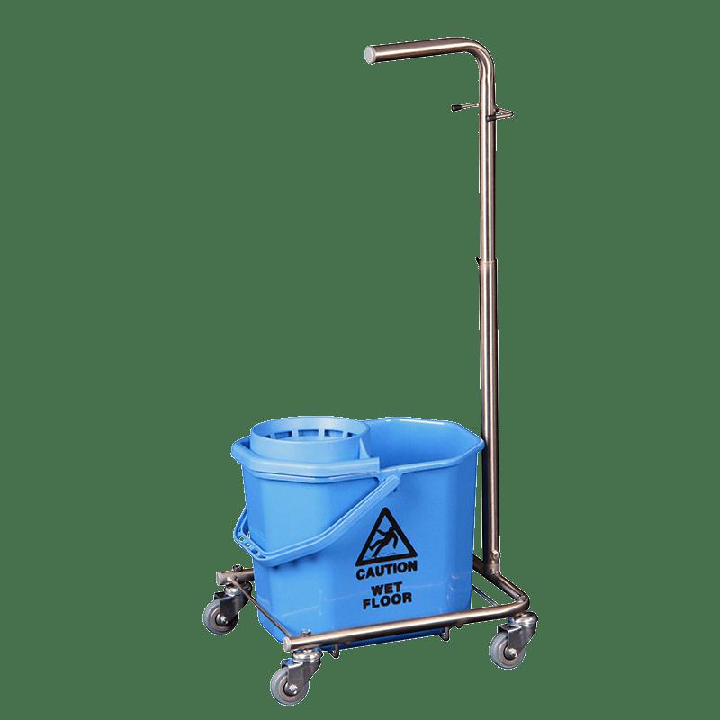 Vindy Mini Mop vogn i rustfrit stål til spinmoppe