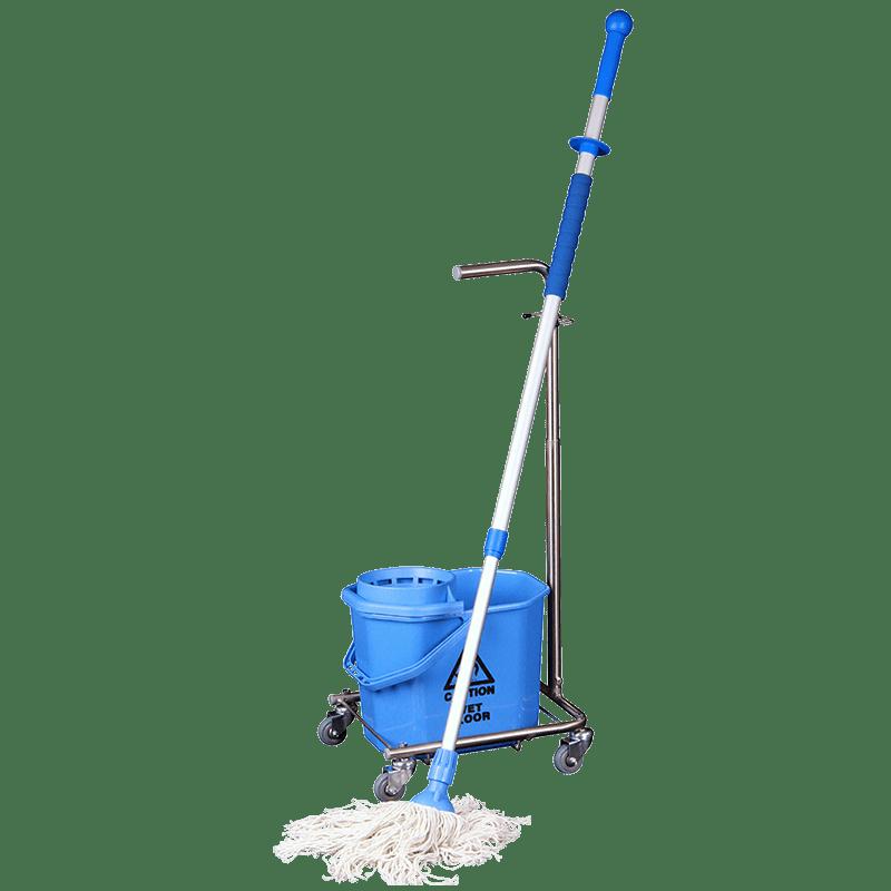 Gulvvaskesystem til spinmoppe klar til brug
