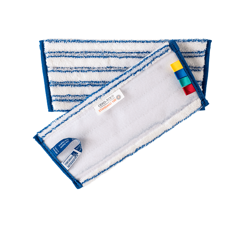 OEKO-TEX miljømærket universal microfibermoppe 30 cm