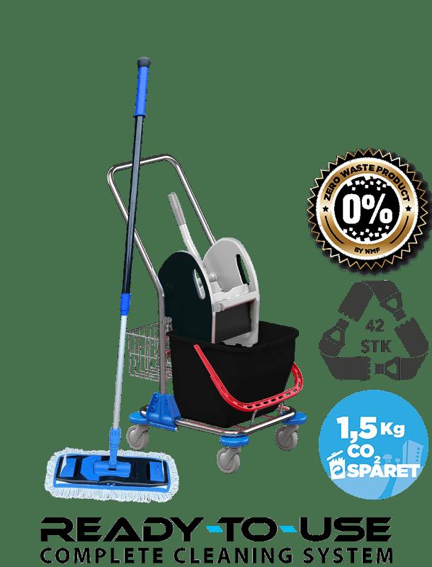 Bæredygtigt gulvvaskesæt klar til brug