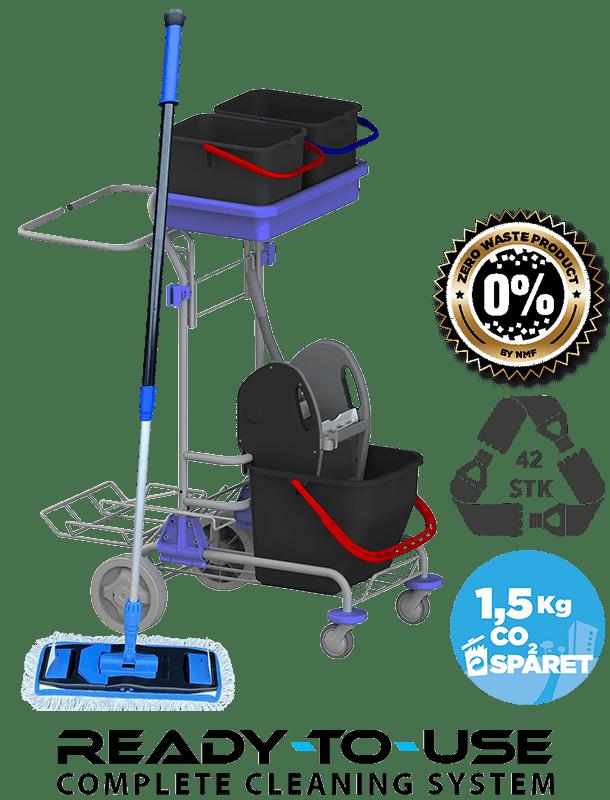 Bæredygtig lille rengøringsvogn klar til brug