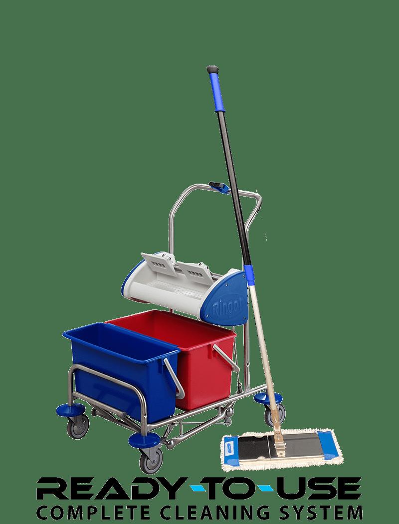 Lille gulvvaskevogn til lommemopper