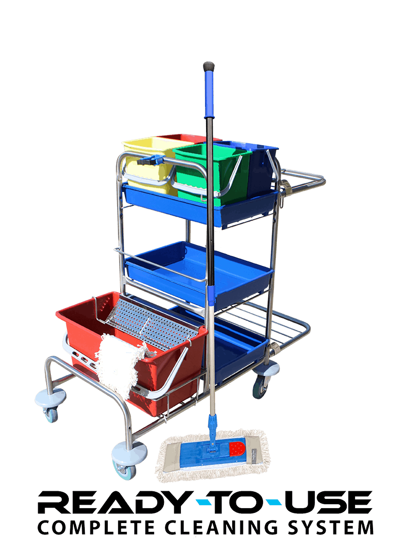 Rengøringsvogn med lommemopper