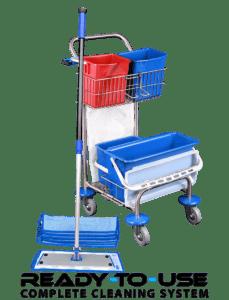 Lille rengøringsvogn med velcromopper