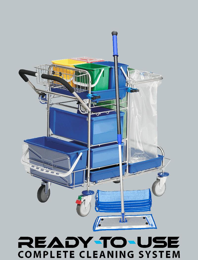 Rengøringsvogn - klar til brug