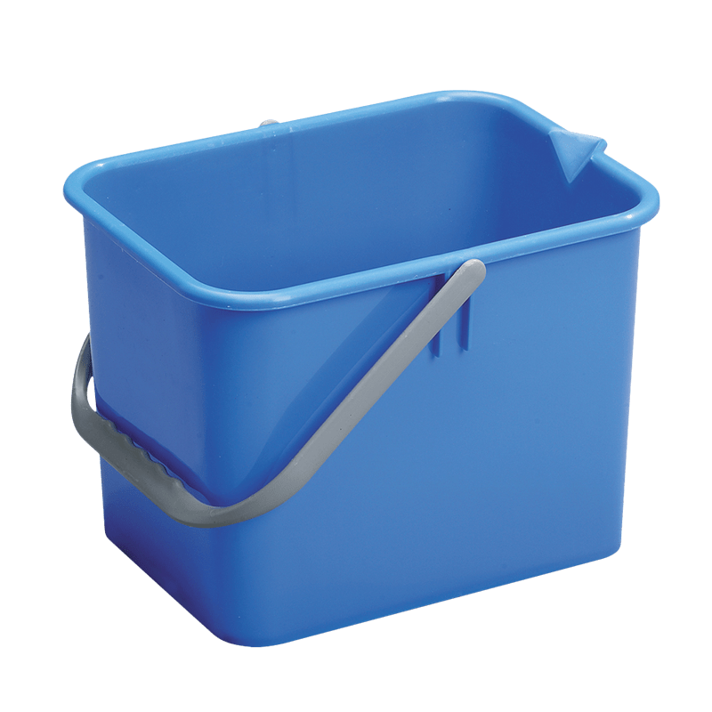 Blå rengøringsspand 9 liter