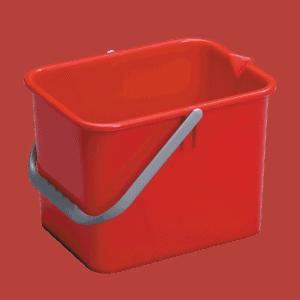Rød rengøringsspand 9 liter