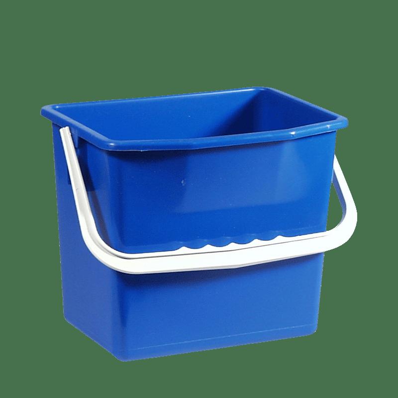 Blå rengøringsspand 6 liter