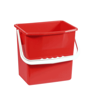 Rød rengøringsspand 6 liter