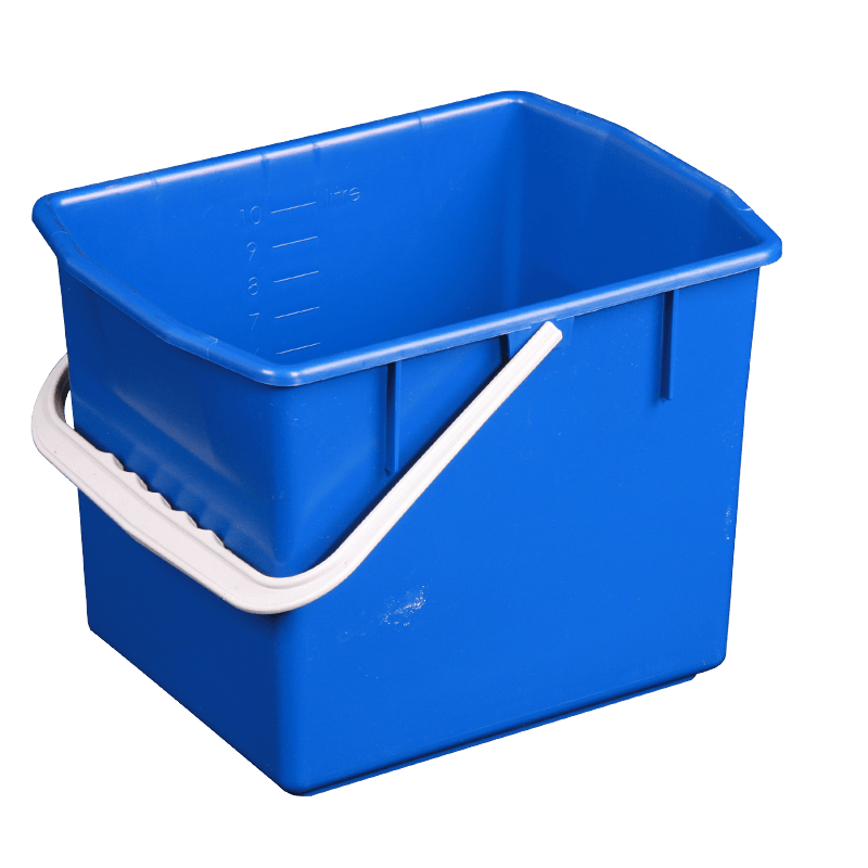 Blå rengøringsspand 10 liter