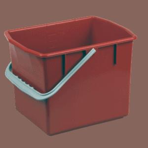 Rød rengøringsspand 10 liter