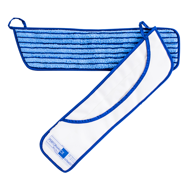 50 cm microfiber lommemoppe med skrubbebørster til single-system