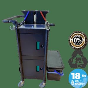 Lille bæredygtig rengøringsvogn