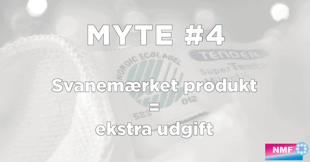 Myte: svanemærket produkt = ekstra udgift